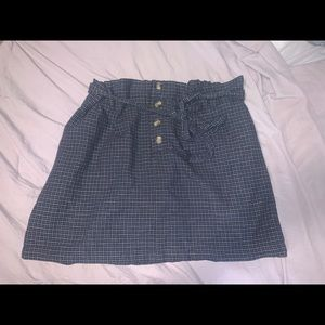 AE plaid button skirt